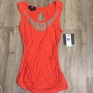 IZ BYER NWT Size XS Orange Shirt